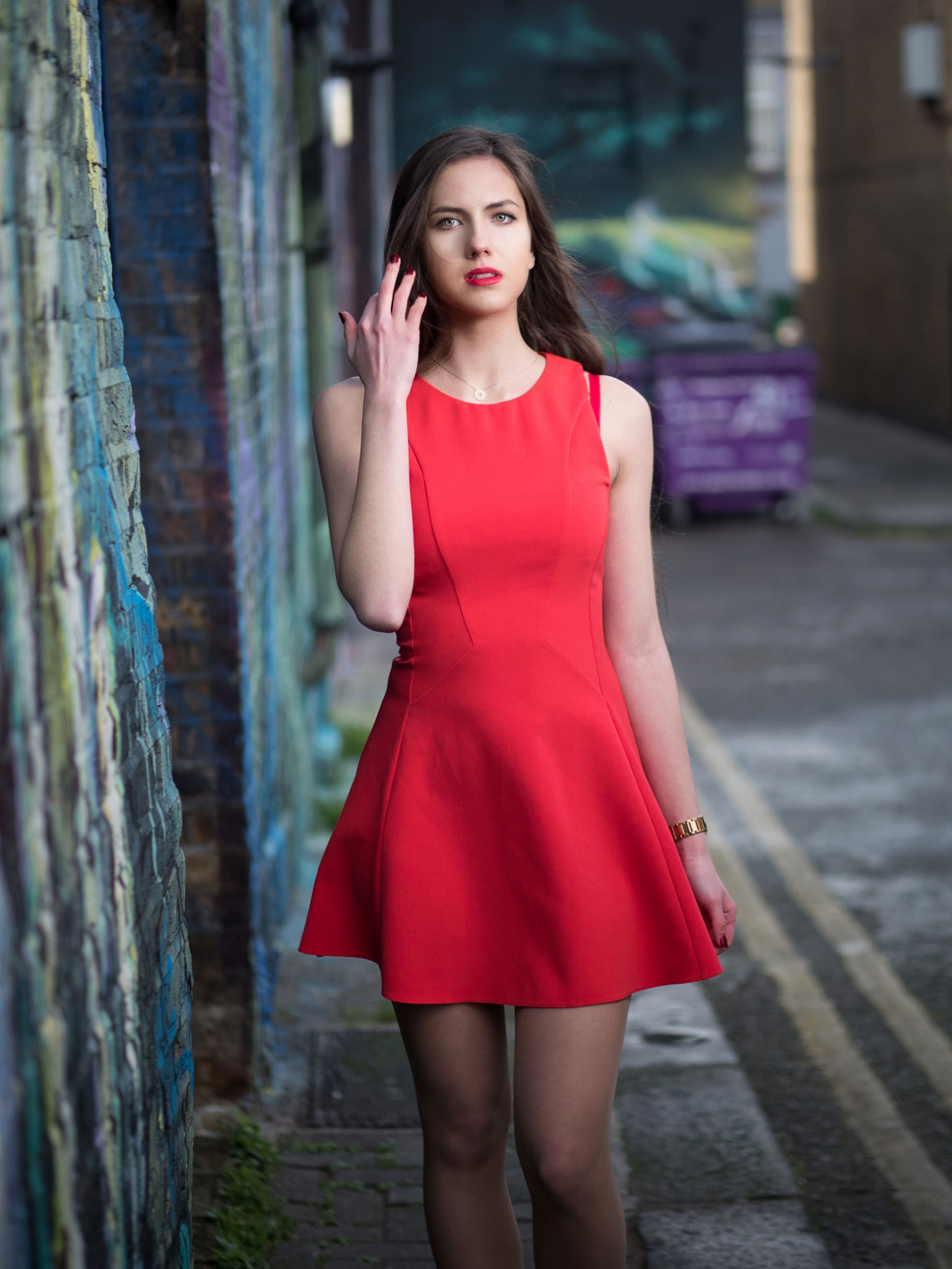 Russian-girl-in-red-dress