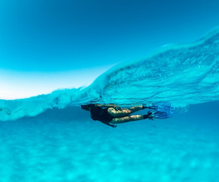 Girl-snorkeling